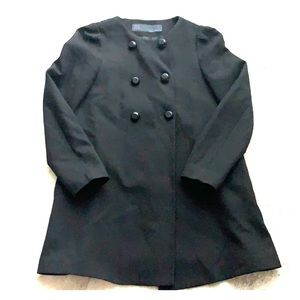 Zara Basics overcoat black